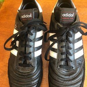 black adidas indoor soccer turf shoes